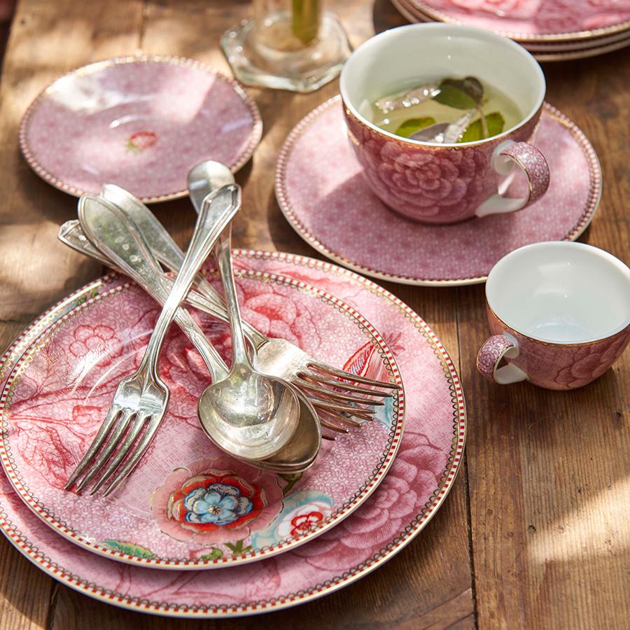 pip studio espressotasse mit unterteller spring to life pink online kaufen emil paula. Black Bedroom Furniture Sets. Home Design Ideas
