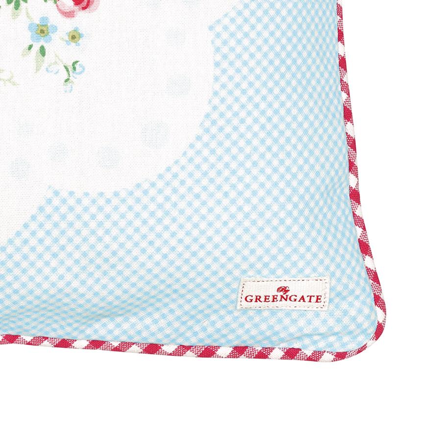 greengate kissenh lle tess white piece printed 40x40 online kaufen emil paula. Black Bedroom Furniture Sets. Home Design Ideas