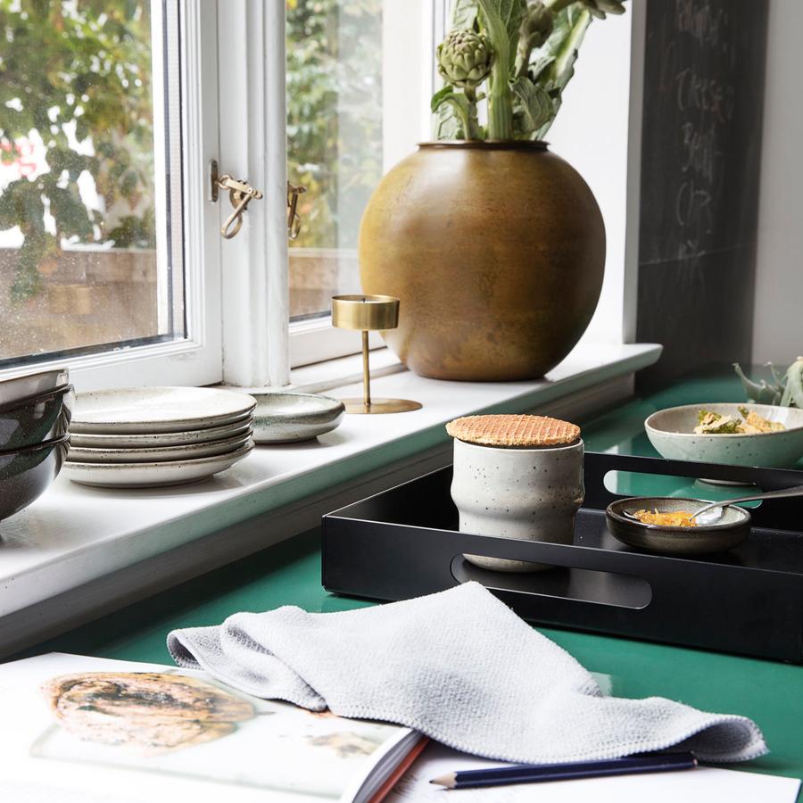 house doctor tablett alu schwarz online kaufen emil paula. Black Bedroom Furniture Sets. Home Design Ideas