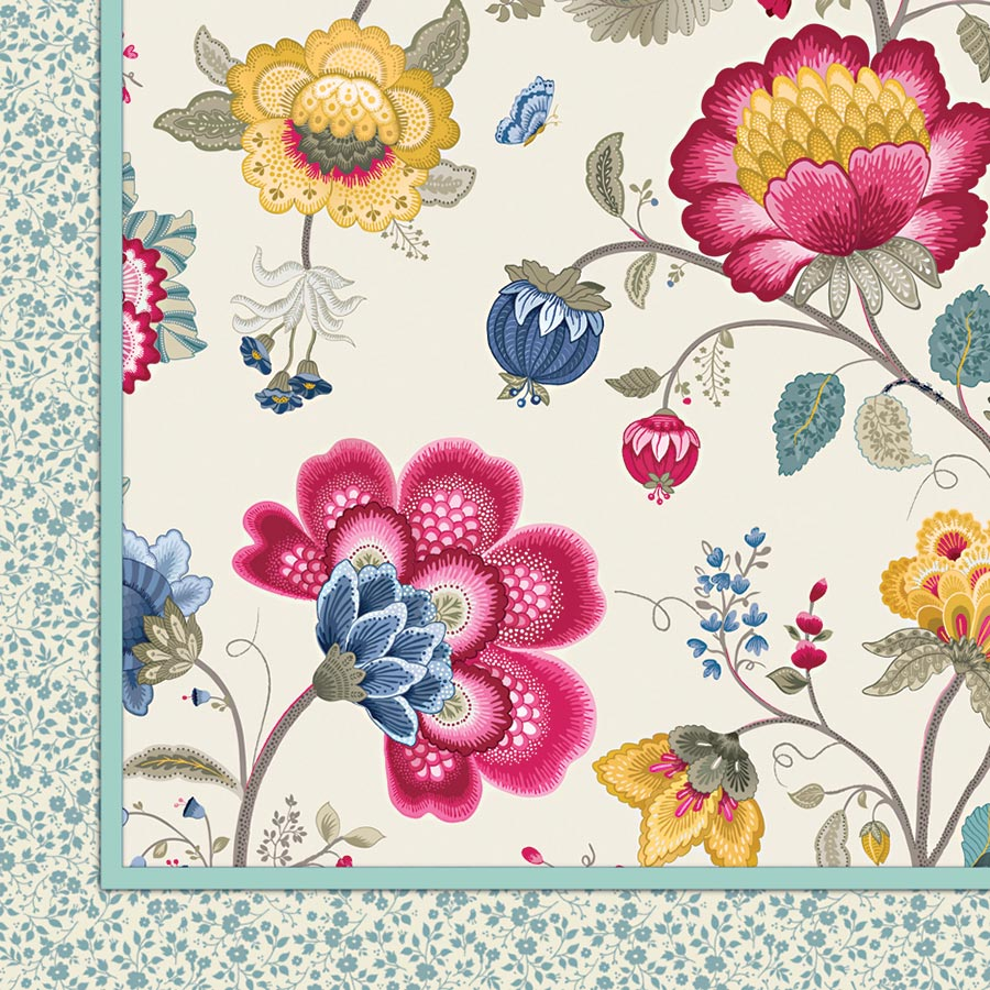 pip studio tagesdecke quilt floral fantasy ecru 150 x 200 cm online kaufen emil paula. Black Bedroom Furniture Sets. Home Design Ideas