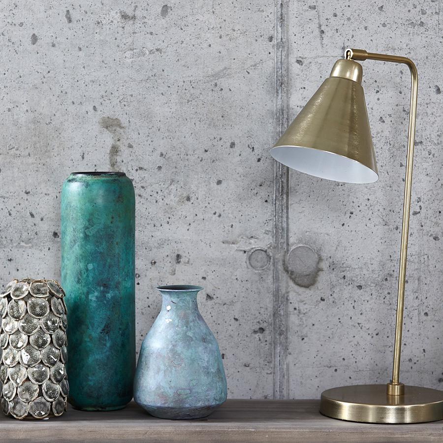 house doctor tischlampe game messing wei online kaufen emil paula. Black Bedroom Furniture Sets. Home Design Ideas