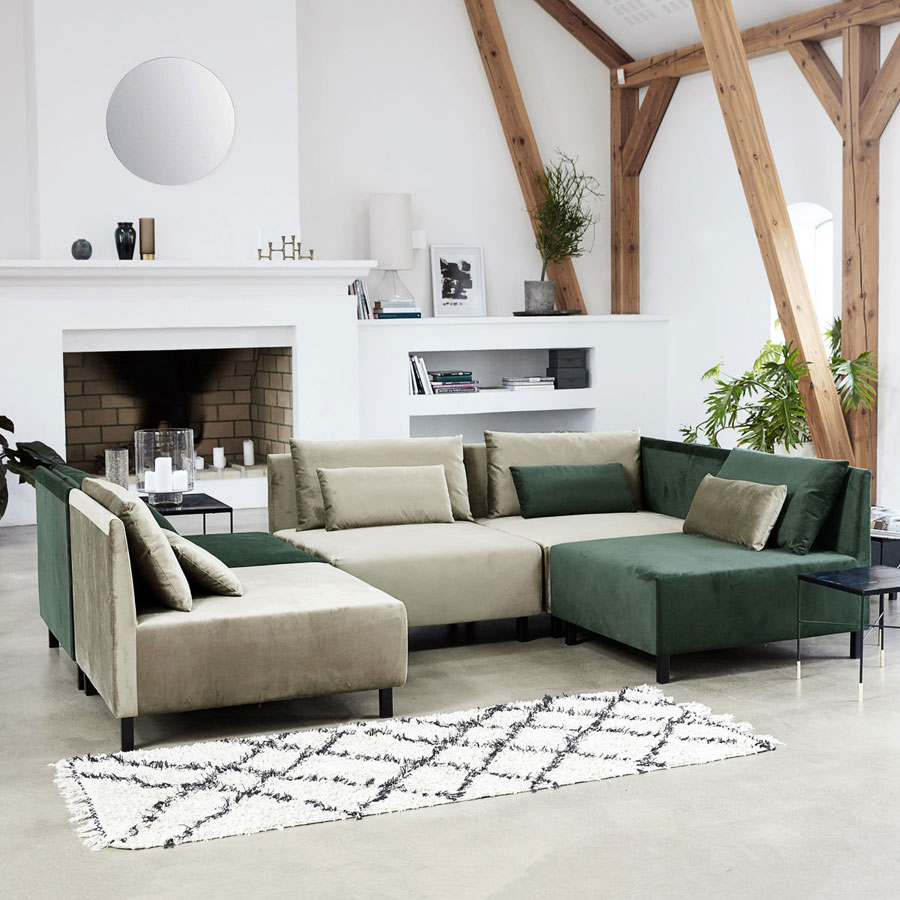 house doctor teppich riba wei schwarz online kaufen emil paula. Black Bedroom Furniture Sets. Home Design Ideas