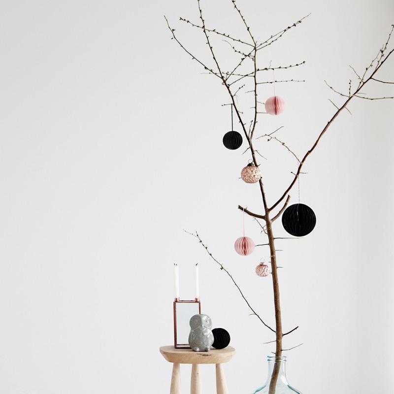 house doctor kerzenst nder eule hellgrau online kaufen emil paula. Black Bedroom Furniture Sets. Home Design Ideas
