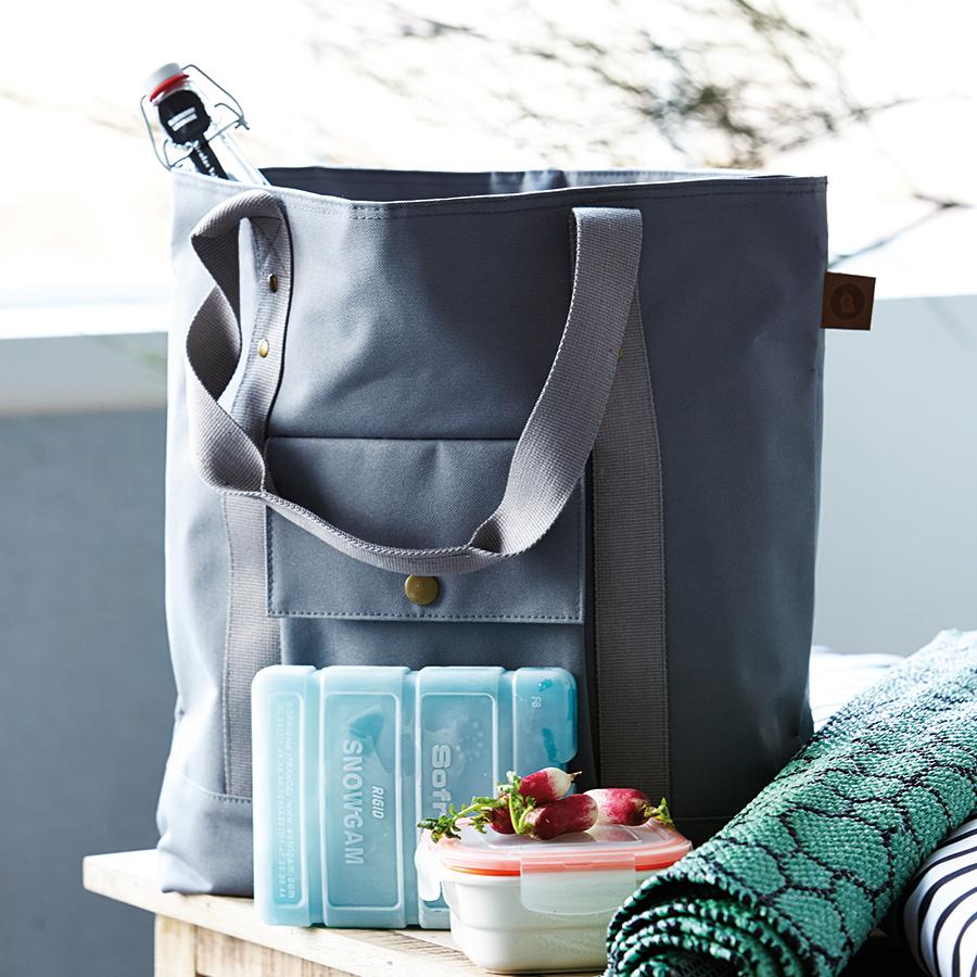 house doctor k hltasche shopper cool grau online kaufen emil paula. Black Bedroom Furniture Sets. Home Design Ideas