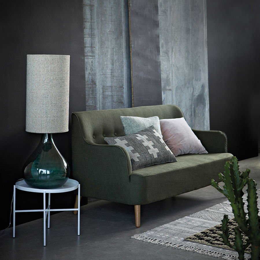 house doctor teppich harlequin schwarz natural 50 x 70 cm online kaufen emil paula. Black Bedroom Furniture Sets. Home Design Ideas