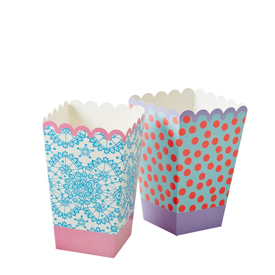 rice papier popcorn becher lace 6er set online kaufen emil paula. Black Bedroom Furniture Sets. Home Design Ideas
