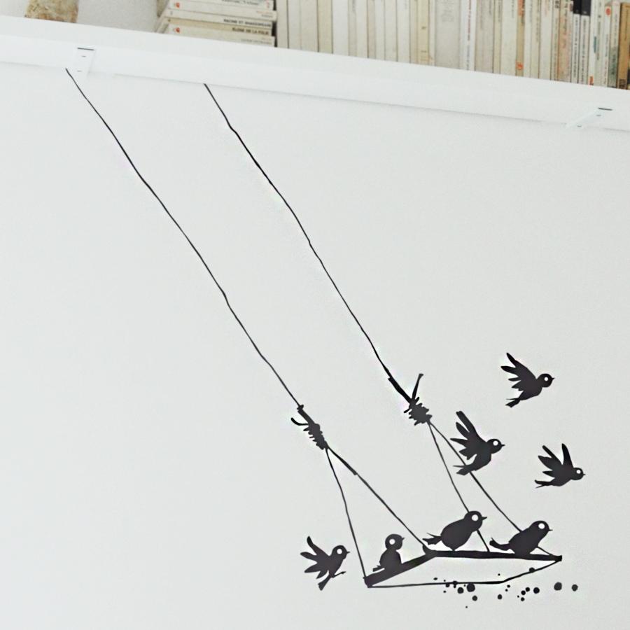 poetic wall wandtattoo vogel schaukel online kaufen emil paula. Black Bedroom Furniture Sets. Home Design Ideas