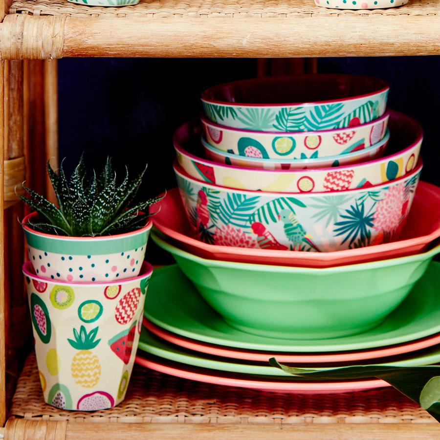rice melamin speiseteller pastel neon green online kaufen. Black Bedroom Furniture Sets. Home Design Ideas