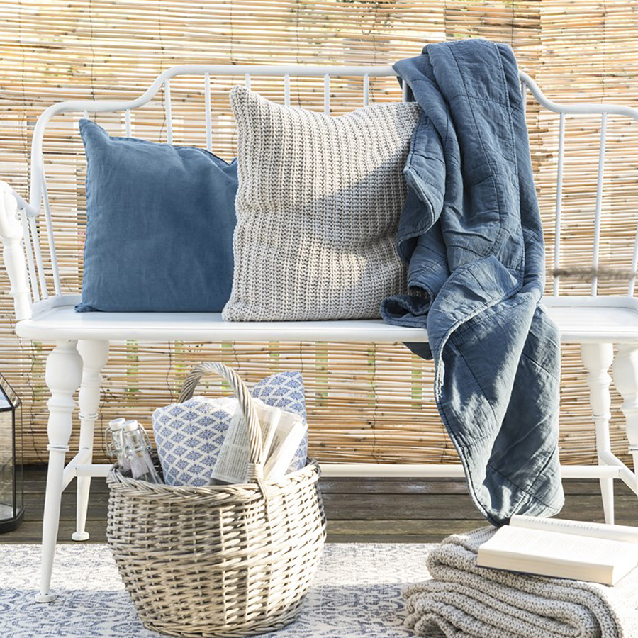 ib laursen kissenbezug creme gestrickt online kaufen. Black Bedroom Furniture Sets. Home Design Ideas