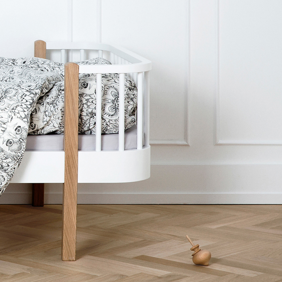 oliver furniture junior und kinderbett wood wei eiche online kaufen emil paula. Black Bedroom Furniture Sets. Home Design Ideas