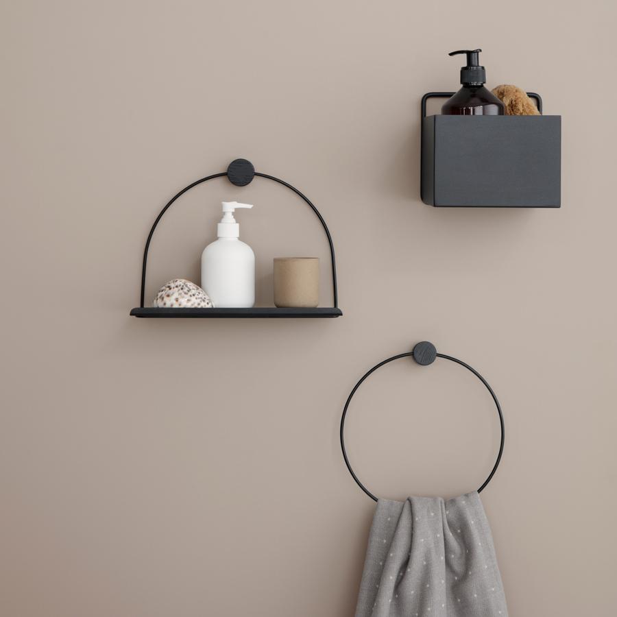 ferm living aufbewahrungsbox wand square dark green online kaufen emil paula. Black Bedroom Furniture Sets. Home Design Ideas