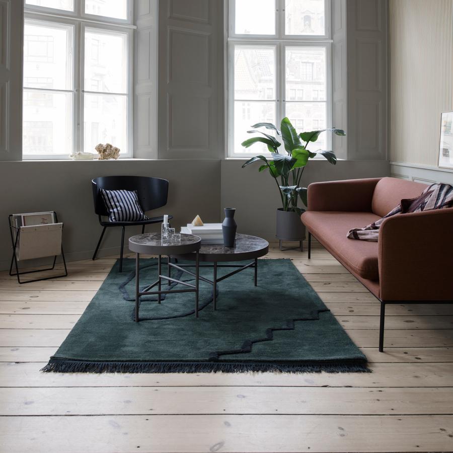 ferm living teppich desert dark green online kaufen emil paula. Black Bedroom Furniture Sets. Home Design Ideas