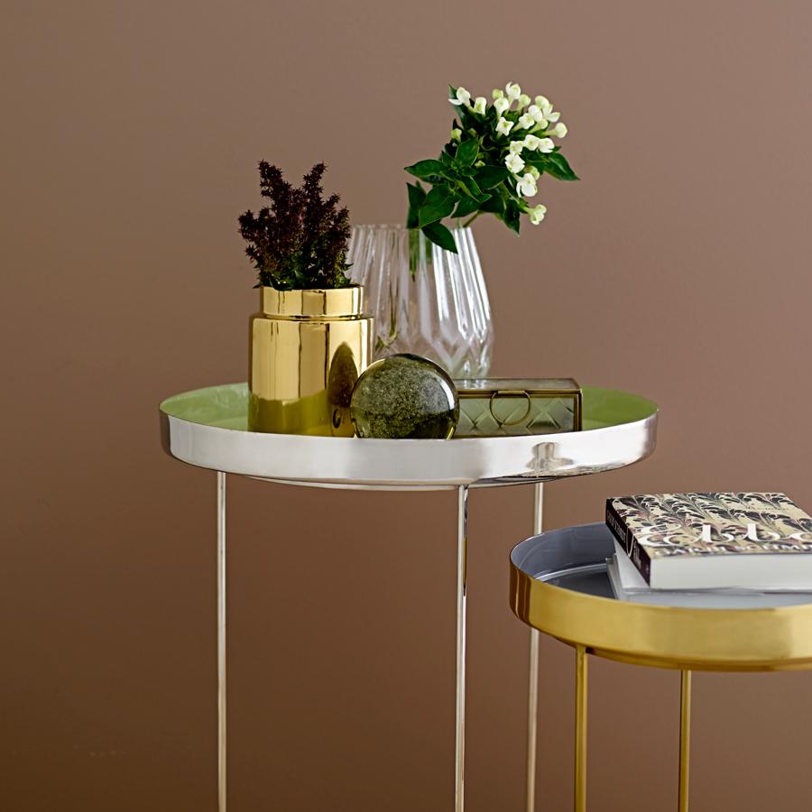 bloomingville beistelltisch mit tablett grey online kaufen. Black Bedroom Furniture Sets. Home Design Ideas