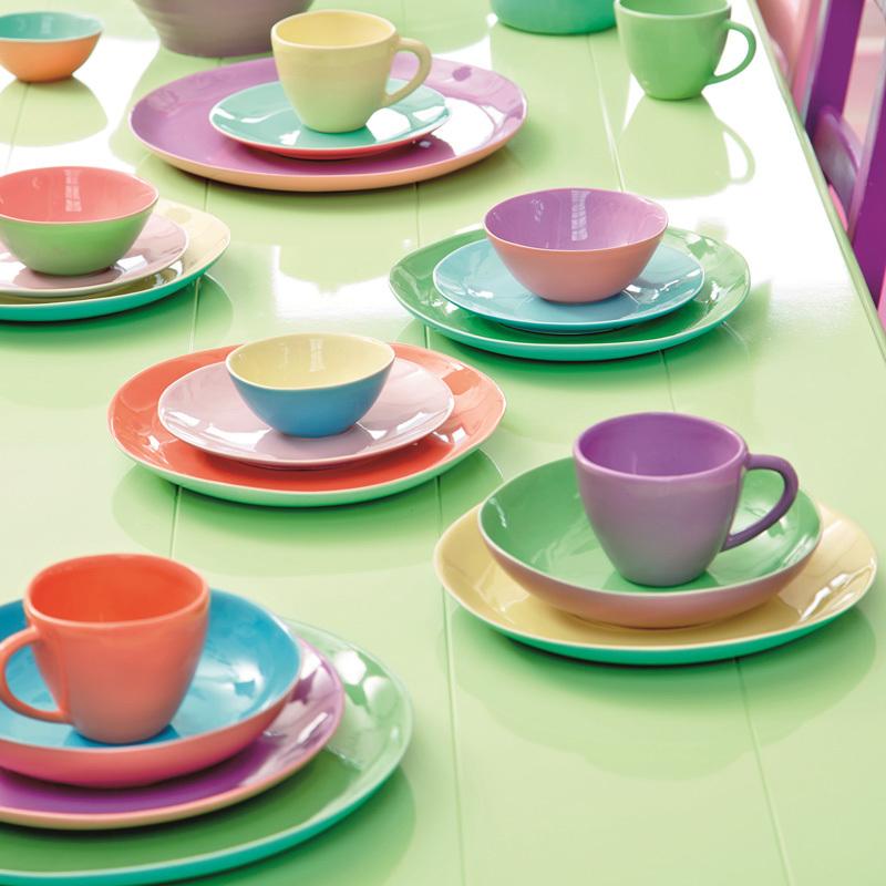 rice keramik speiseteller soft green turquoise online kaufen emil paula. Black Bedroom Furniture Sets. Home Design Ideas
