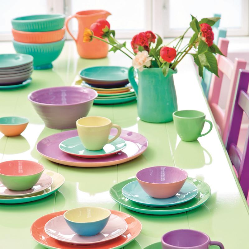 rice keramikbecher two tone coral aqua online kaufen emil paula. Black Bedroom Furniture Sets. Home Design Ideas