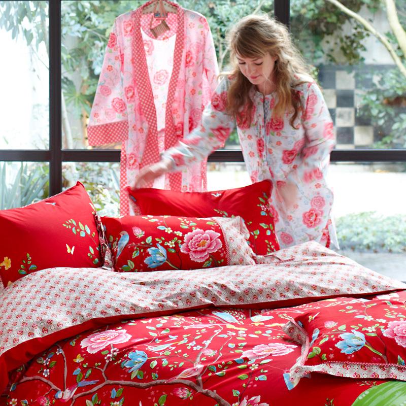 pip studio kissen morning glory red 35 x 60 online kaufen. Black Bedroom Furniture Sets. Home Design Ideas