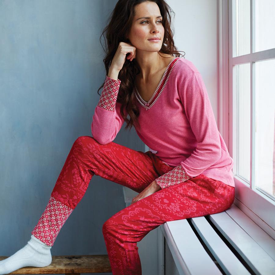 pip studio hose bobien cross stitch red online kaufen emil paula. Black Bedroom Furniture Sets. Home Design Ideas