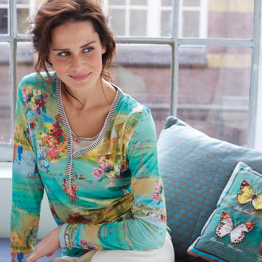 pip studio langarm shirt tekla winterland green xl online kaufen emil paula. Black Bedroom Furniture Sets. Home Design Ideas