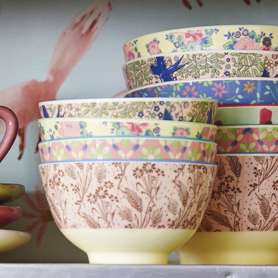 rice kleine melamin schale dutch rose pastel green online. Black Bedroom Furniture Sets. Home Design Ideas