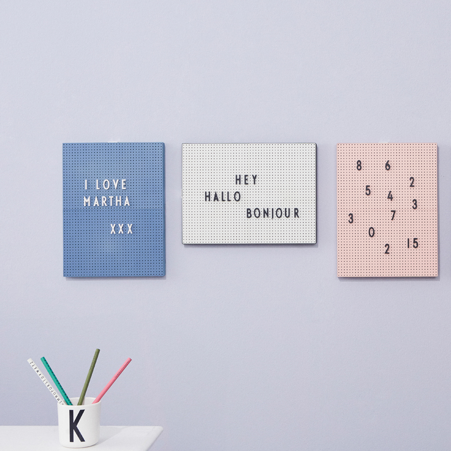 design letters buchstaben set f r messageboard white online kaufen emil paula. Black Bedroom Furniture Sets. Home Design Ideas