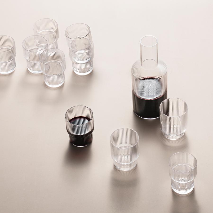 ferm living glas ripple 4er set online kaufen emil paula. Black Bedroom Furniture Sets. Home Design Ideas