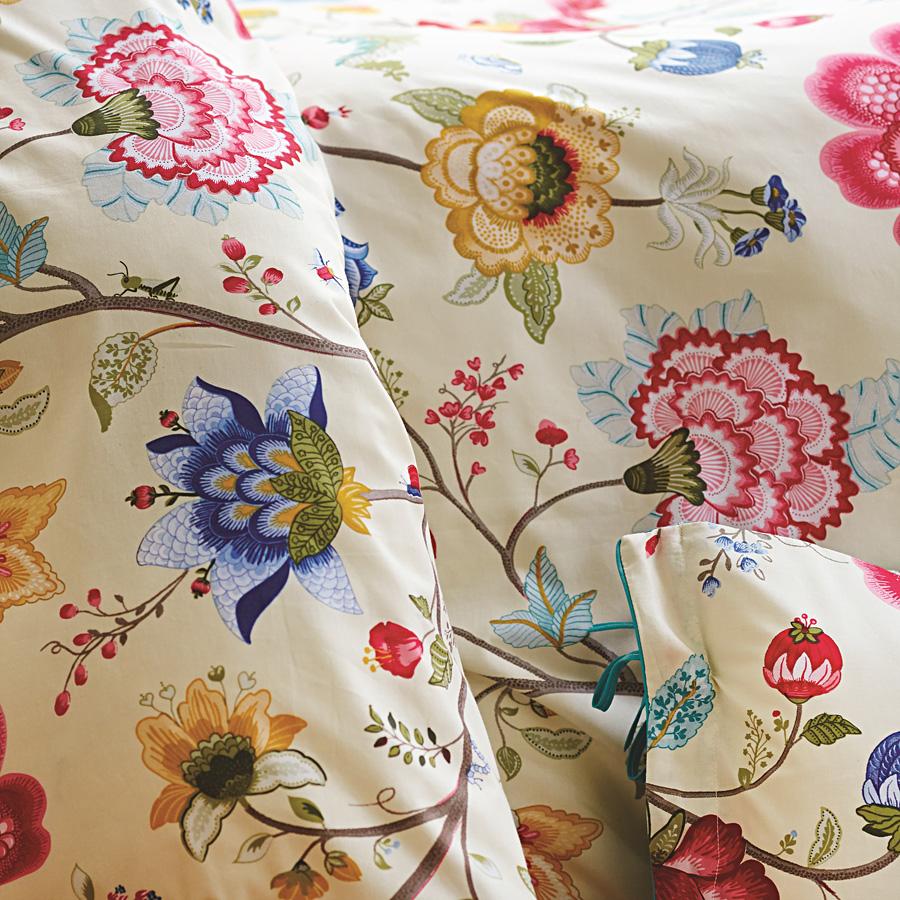 pip studio bettw sche floral fantasy ecru 135 x 200 cm. Black Bedroom Furniture Sets. Home Design Ideas