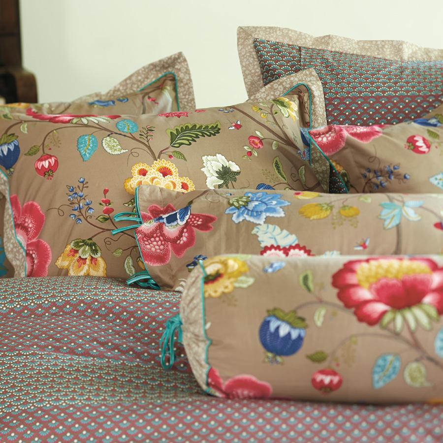 pip studio nackenrolle floral fantasy khaki online kaufen emil paula. Black Bedroom Furniture Sets. Home Design Ideas