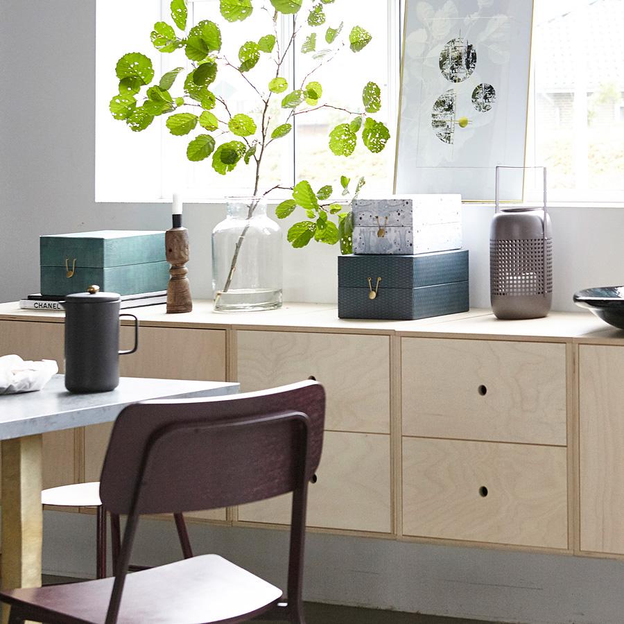 house doctor aufbewahrungs box mixed 2er set schwarz wei. Black Bedroom Furniture Sets. Home Design Ideas