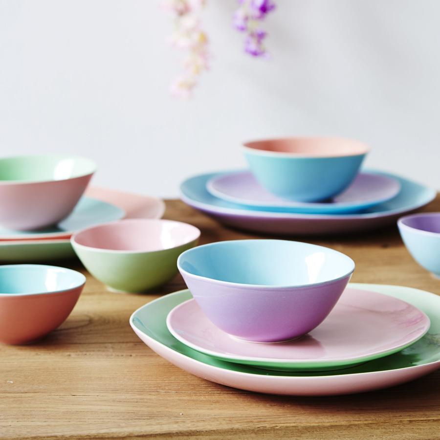 rice kleine keramiksch ssel two tone pastel green coral online kaufen emil paula. Black Bedroom Furniture Sets. Home Design Ideas