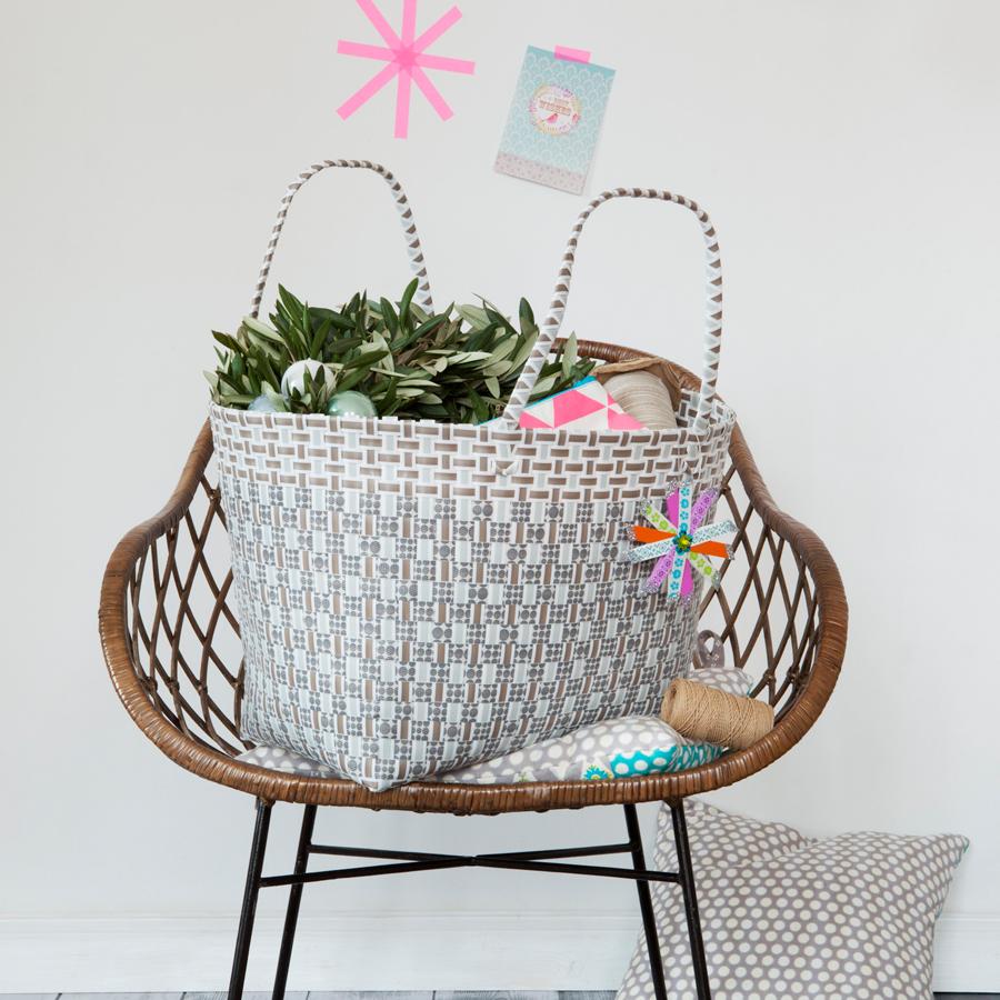 overbeck friends markttasche liv grau gro oval online kaufen emil paula. Black Bedroom Furniture Sets. Home Design Ideas
