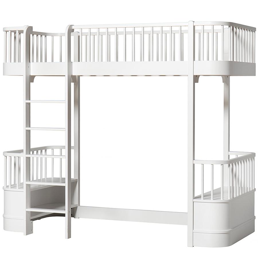 oliver furniture hochbett wood wei leiter vorne online. Black Bedroom Furniture Sets. Home Design Ideas