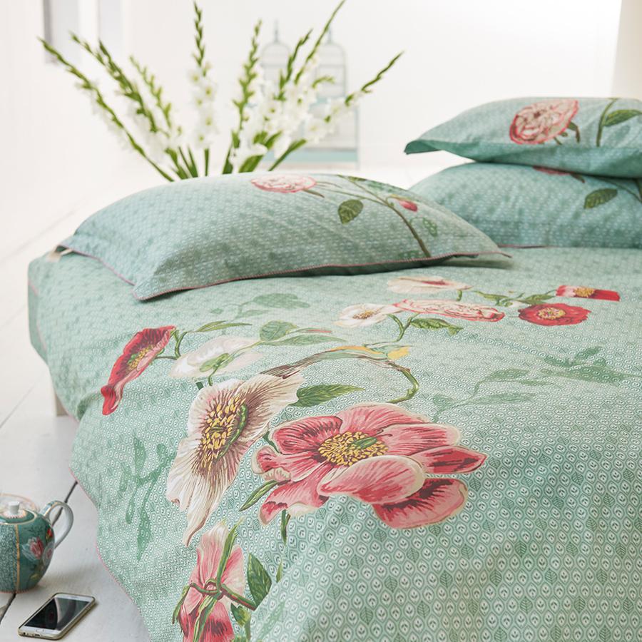 pip studio bettw sche pip poppy green online kaufen emil paula. Black Bedroom Furniture Sets. Home Design Ideas