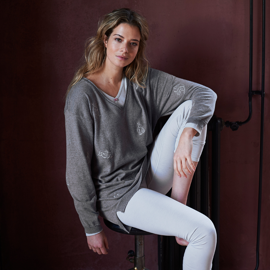 pip studio langarm shirt trix stripers grey online kaufen emil paula. Black Bedroom Furniture Sets. Home Design Ideas