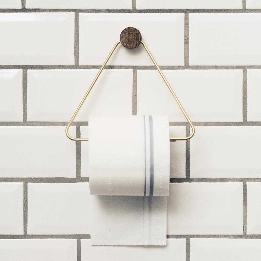 Komplett Neu ferm LIVING Toilettenpapier-Halter Messing online kaufen | Emil  HW34