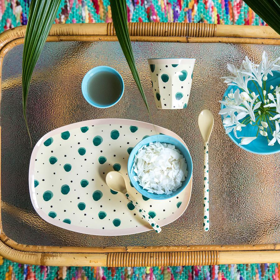 rice melamin teller oval watercolor splash online kaufen. Black Bedroom Furniture Sets. Home Design Ideas