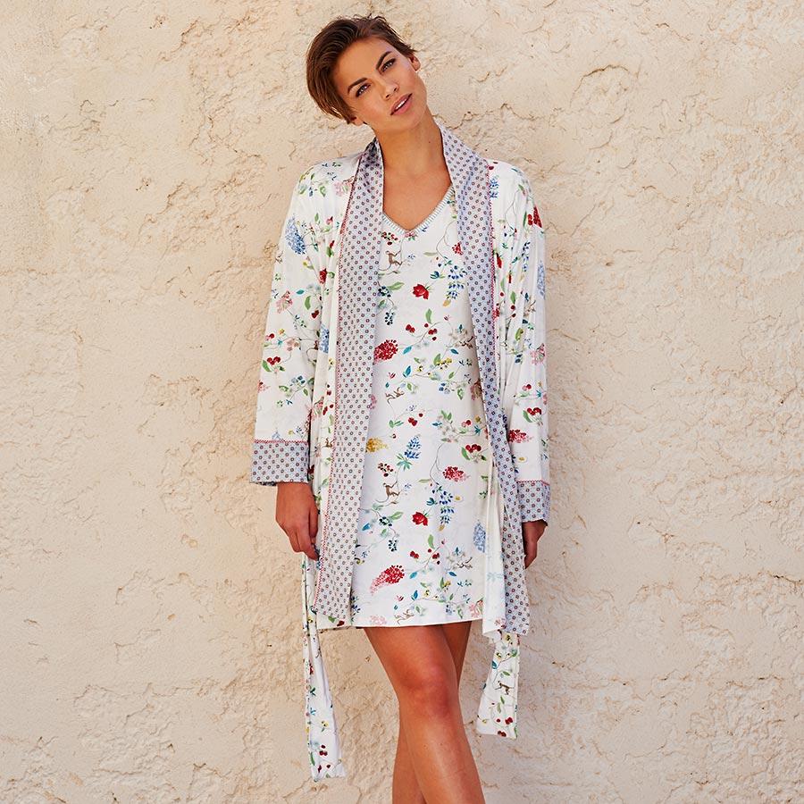 pip studio kimono nisha hummingbirds off white online kaufen emil paula. Black Bedroom Furniture Sets. Home Design Ideas