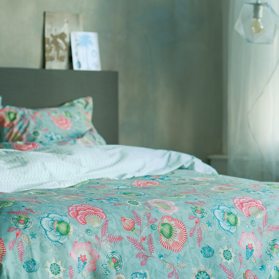 pip studio bettw sche shellebration aqua online kaufen. Black Bedroom Furniture Sets. Home Design Ideas