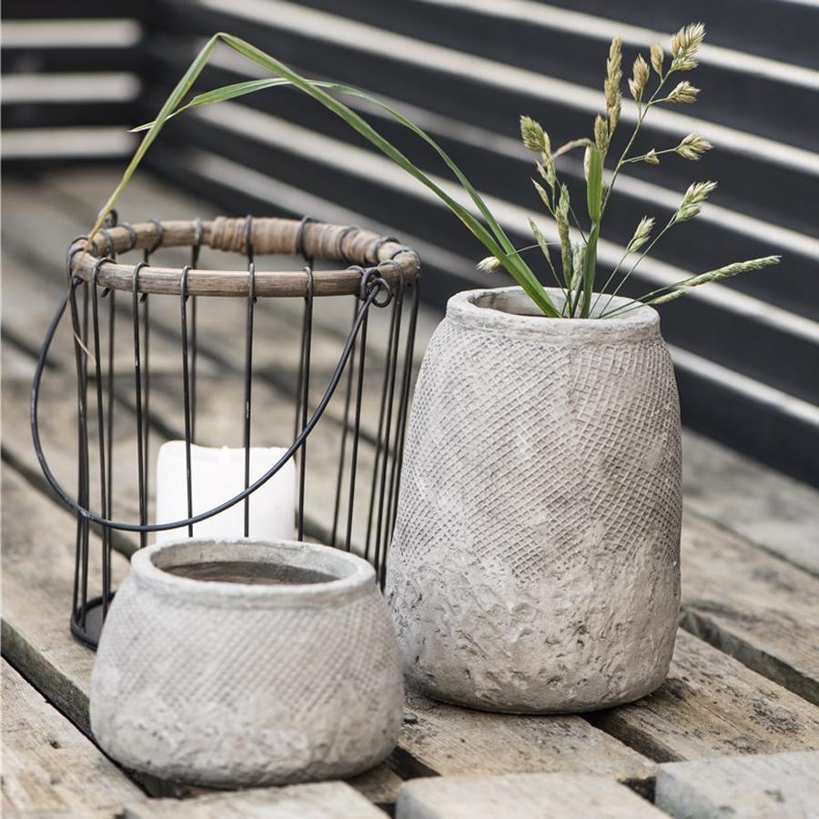 Ib laursen blumentopf hanoi beton m online kaufen emil for Blumentopf beton