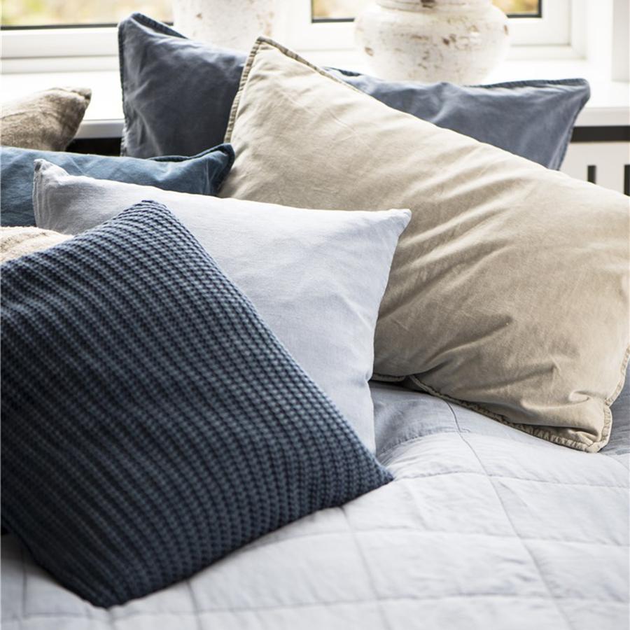 ib laursen kissenbezug velour navy 52x72 online kaufen. Black Bedroom Furniture Sets. Home Design Ideas