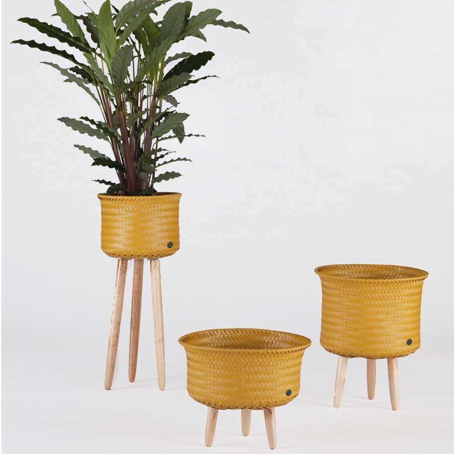 handed by runder korb up mid mit holzf en mustard online kaufen emil paula. Black Bedroom Furniture Sets. Home Design Ideas