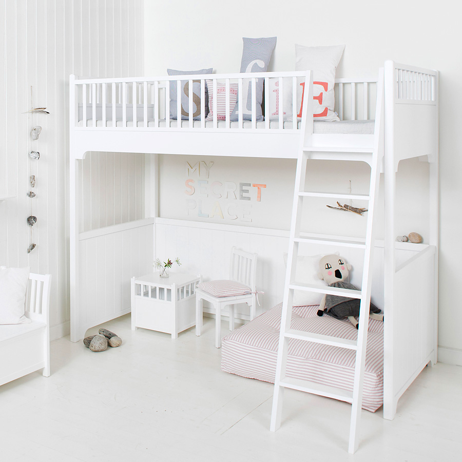 oliver furniture hochbett seaside sofort lieferbar online kaufen emil paula. Black Bedroom Furniture Sets. Home Design Ideas