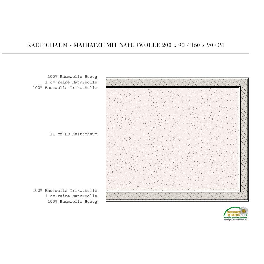 oliver furniture matratze junior und kinderbett 90x160. Black Bedroom Furniture Sets. Home Design Ideas