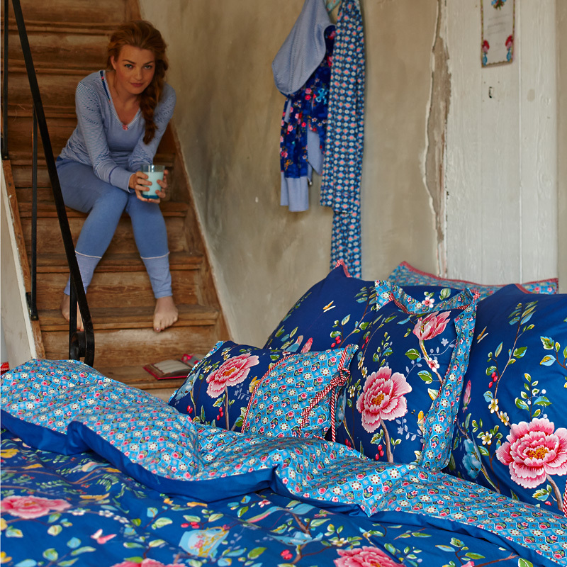 pip studio kissen morning glory dark blue 35 x 60 online. Black Bedroom Furniture Sets. Home Design Ideas