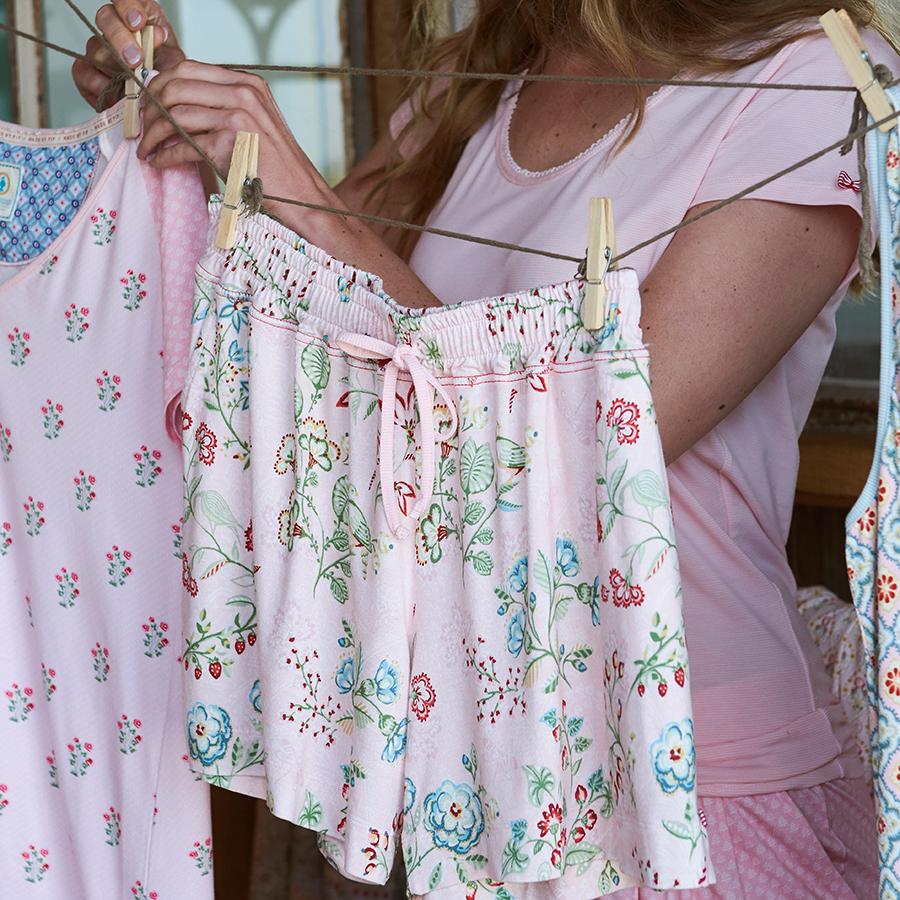 pip studio kurze hose shorts bob jaipur flower pink online kaufen emil paula. Black Bedroom Furniture Sets. Home Design Ideas