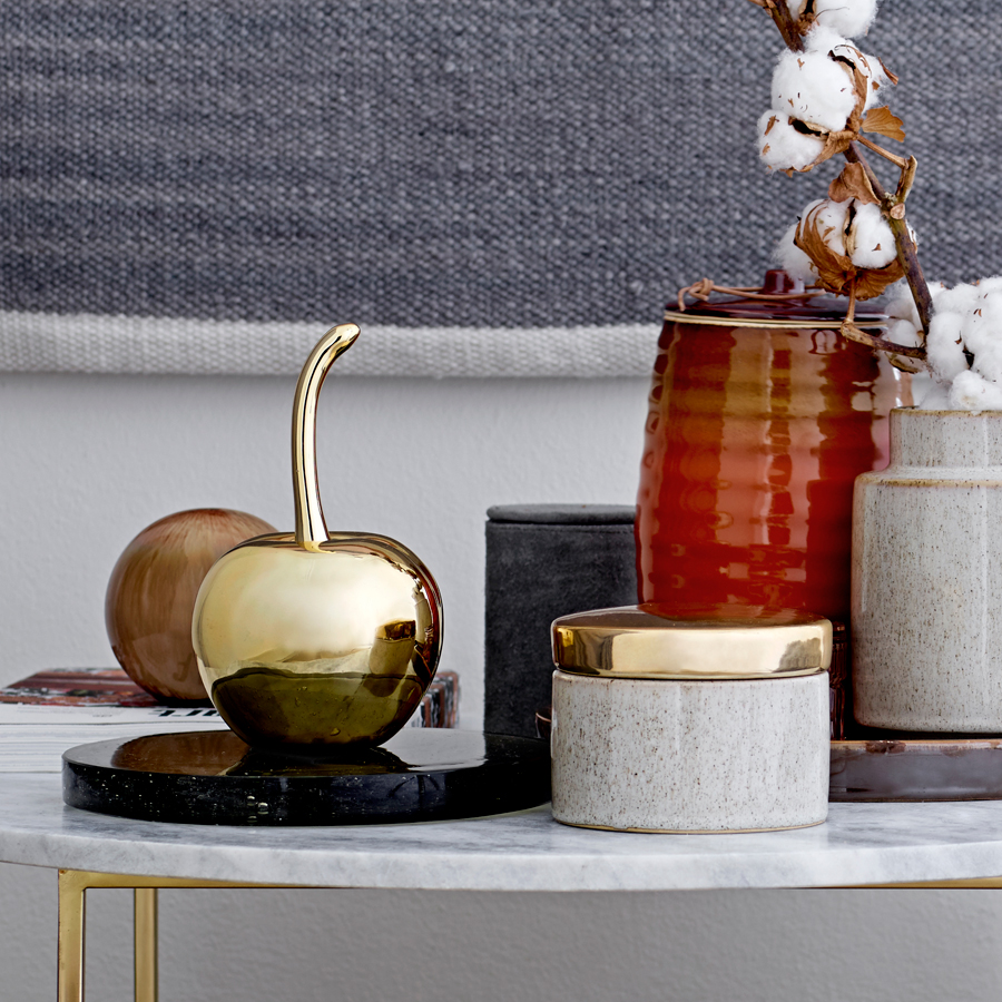 bloomingville gro e deko kirsche gold online kaufen emil paula. Black Bedroom Furniture Sets. Home Design Ideas