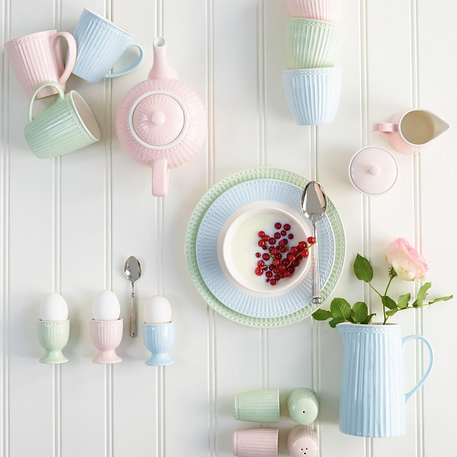 GreenGate Schüssel Lotus Pastell Pink mit Goldrand online kaufen ...
