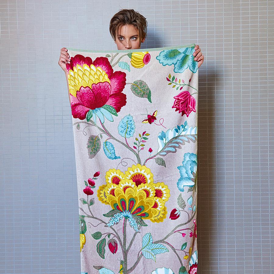 pip studio handtuch floral fantasy khaki online kaufen emil paula. Black Bedroom Furniture Sets. Home Design Ideas