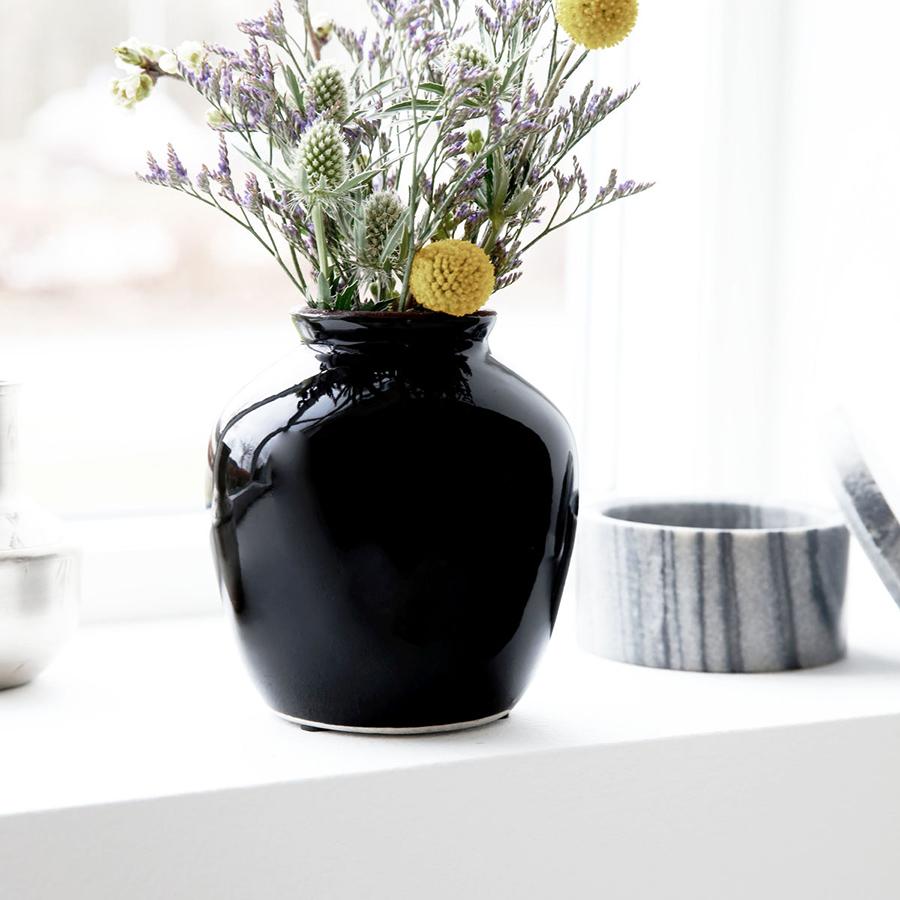 house doctor vase shine black s online kaufen emil paula. Black Bedroom Furniture Sets. Home Design Ideas