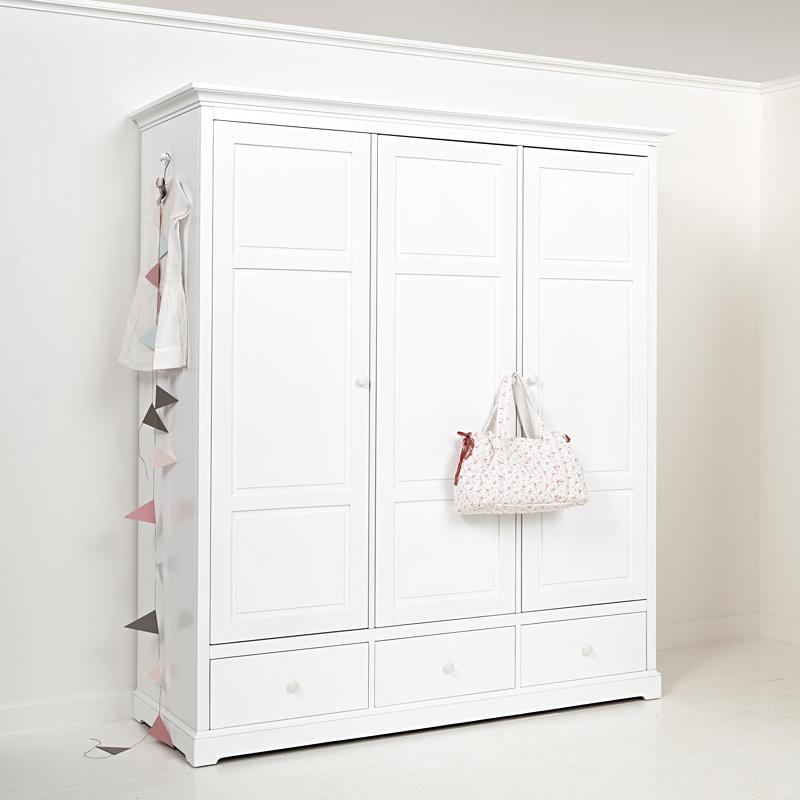 oliver furniture 3 t riger kleiderschrank wei hoch. Black Bedroom Furniture Sets. Home Design Ideas