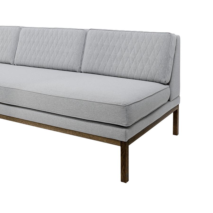 Bloomingville sofa settle quilted grau eiche online for Sofa zeichnen